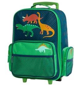 Stephen Joseph Rolling Luggage Dino Green