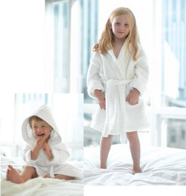 Monarch Towel Co. White Hooded Terry Velour Robe