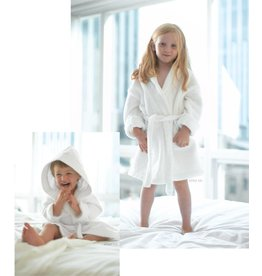 Monarch Cypress Hooded White Terry Velour Robe