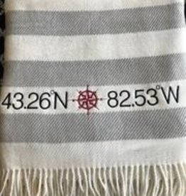 Candy Stripe Throw Grey