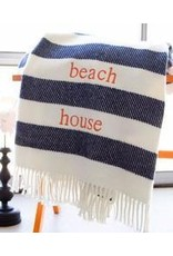 Apparel Solutions Inc. Candy Stripe Throw Navy