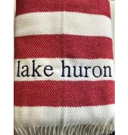 Candy Stripe Throw Red