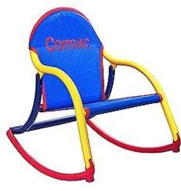Hoohobbers Hoohobber Rocking Chair Blue Mesh Primary