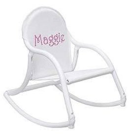 Hoohobbers Hoohobber Rocking Chair White Mesh Seat White Trim