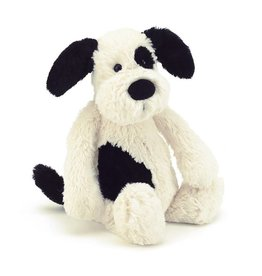 Jelly Cat Bashful Black/Cream Puppy Medium 12""