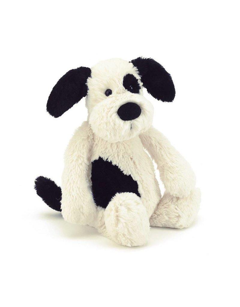"Jelly Cat Bashful Black/Cream Puppy Medium 12"""