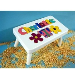 Cubbyhole Toys White Flower Stool Pastel