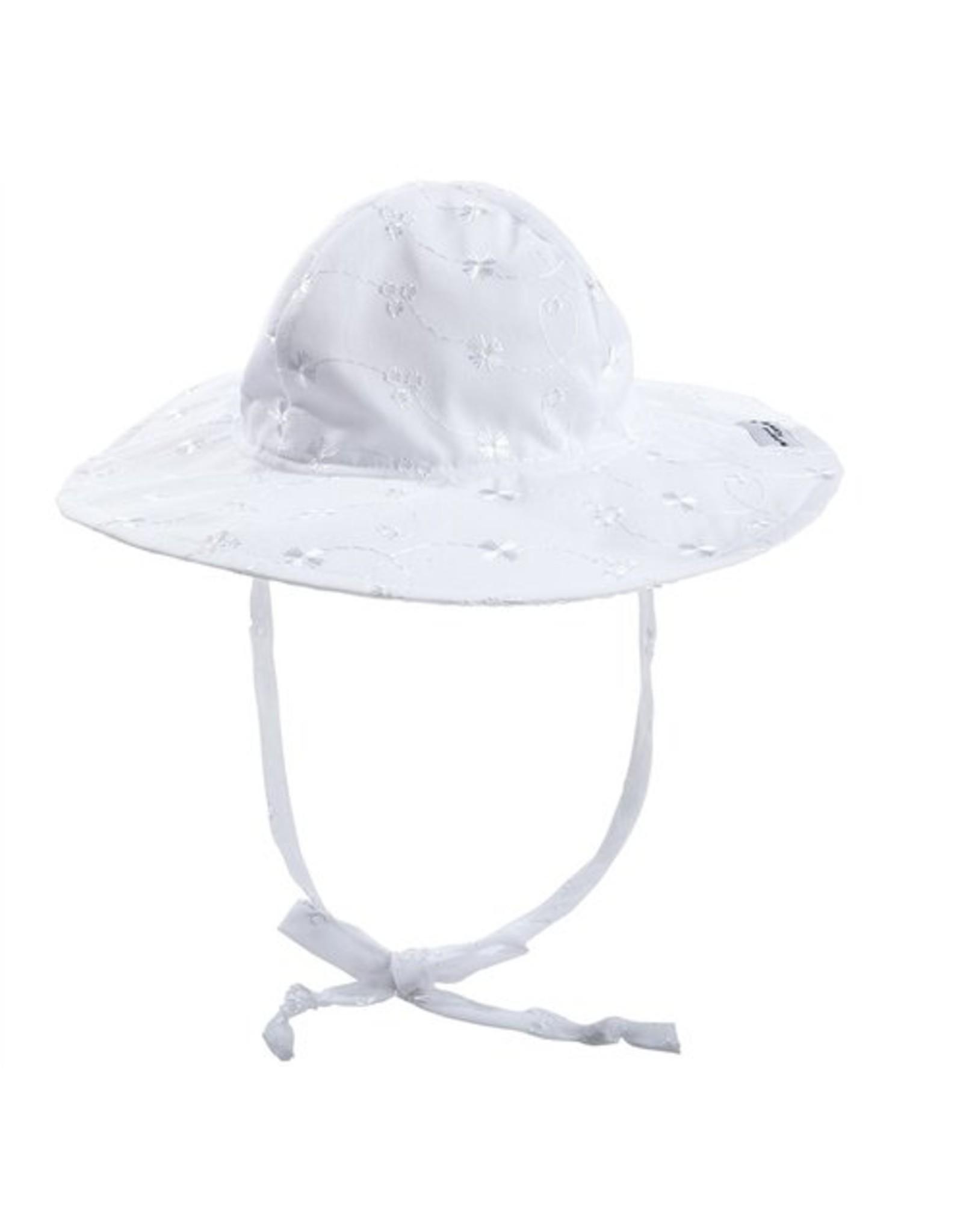 Flap Happy Floppy Hat Eyelet White