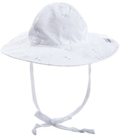Flap Happy Floppy Hat Eyelot White