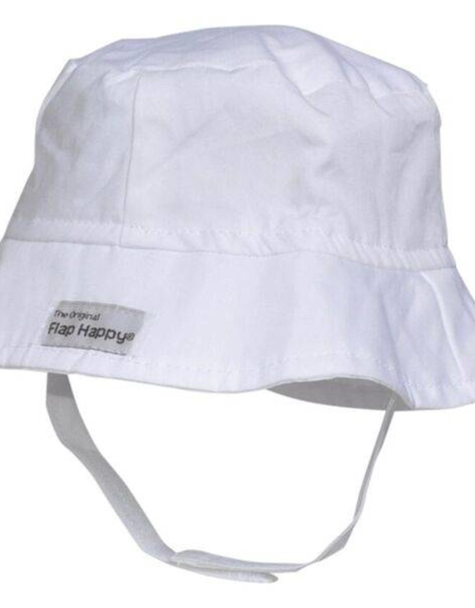 Flap Happy Bucket Hat White