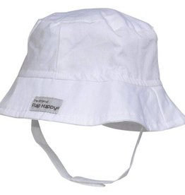 Flap Happy Bucket Hat White