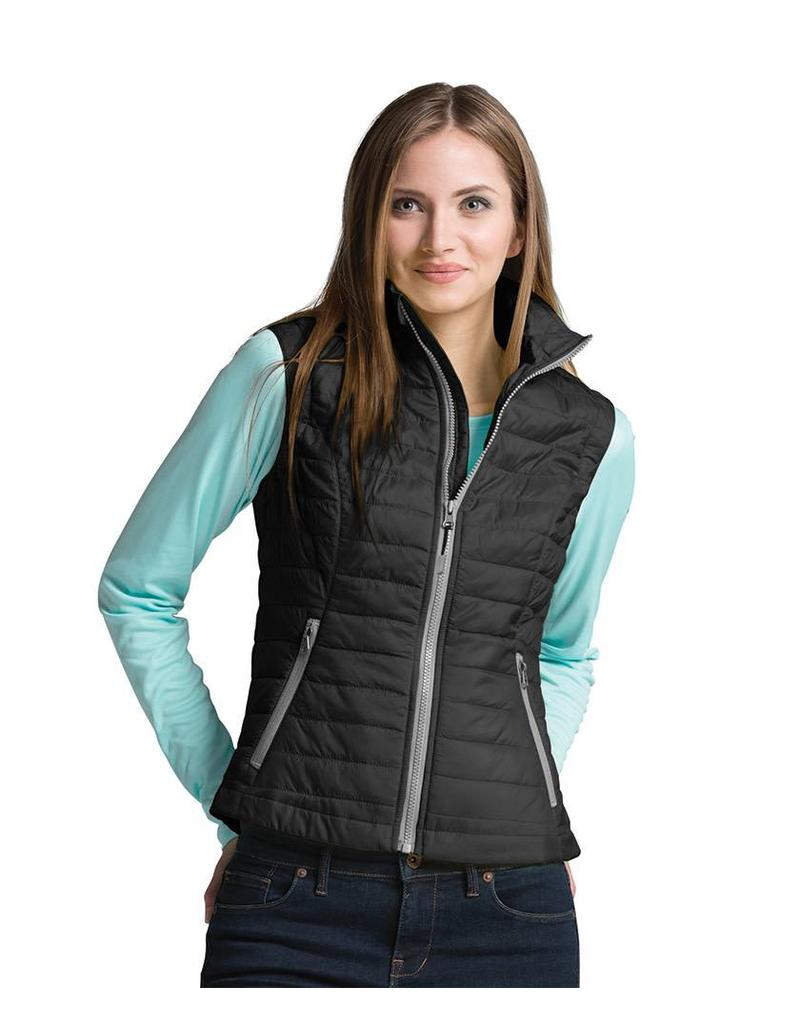 Women's Quilted Vest Grey/Black S