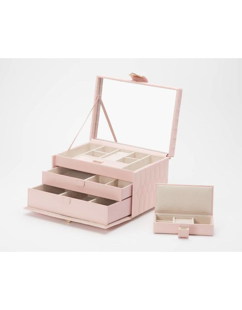 Wolf Caroline Medium Jewelry Box Rose Quartz