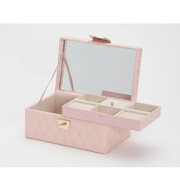 Wolf Caroline Small Jewelry Case Rose Quartz