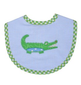 Three Marthas Bib Basic Blue Alligator