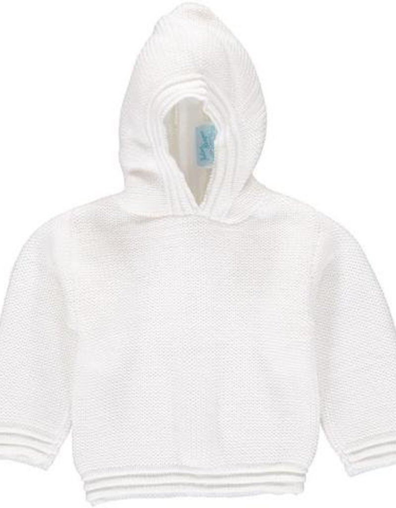 Carriage Boutique White White Acrylic Hooded Sweater