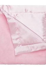 Elegant Baby Fleece Satin Blankie Pink