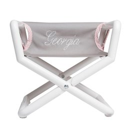 Hoohobbers Hoohobber Jr. Director Chair | Pink-Gingham