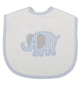 Three Marthas Bib Toddler Blue Elephant