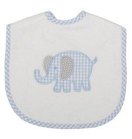 Three Marthas Bib Toddler Blue Elephant