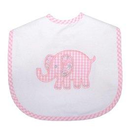 Three Marthas Large Bib Pink Elephant