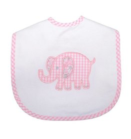 Three Marthas Large Bib Pink Elephant