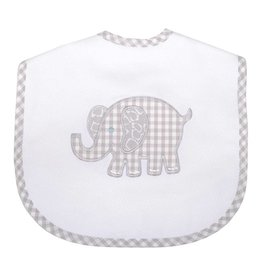 Three Marthas Bib Toddler Grey Elephant