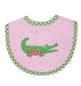 Three Marthas Bib Basic Pink Alligator