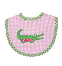 Three Marthas Bib Medium Pink Alligator