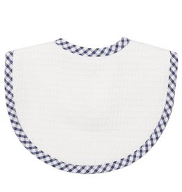 Three Marthas Bib Basic Pique Navy Check