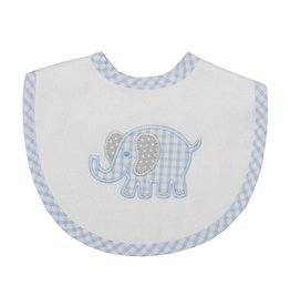 Three Marthas Bib Medium Blue Elephant