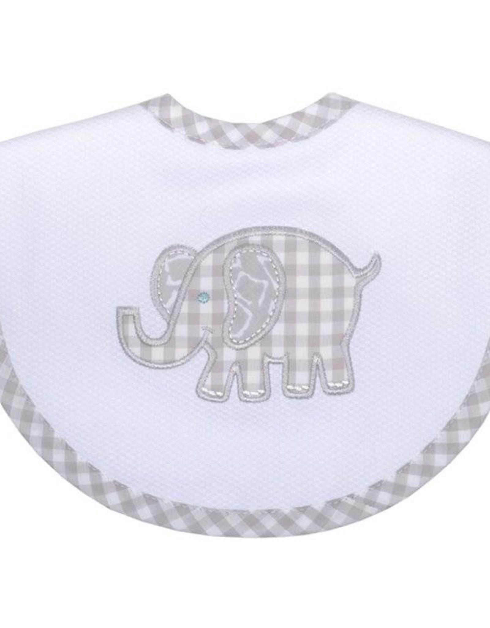 Three Marthas Basic Bib Grey Elephant