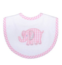 Three Marthas Bib Medium Pink Elephant