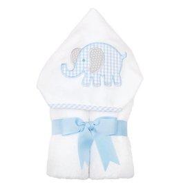 Three Marthas Everykid Towel Blue Elephant