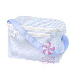 Oh Mint Lunch Box Light Blue Seersucker