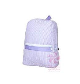 Oh Mint Small Backpack Lavender Seersucker