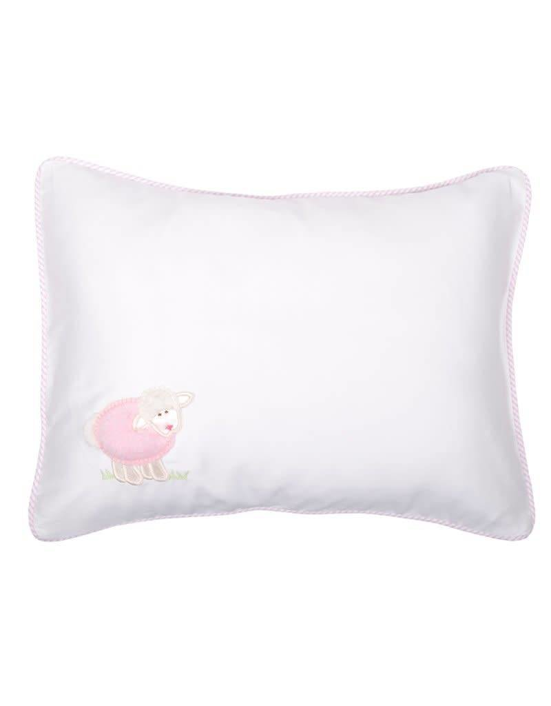 Three Marthas Baby Pillow Pink Lamb