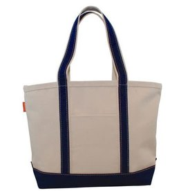 Medium Navy Canvas Tote