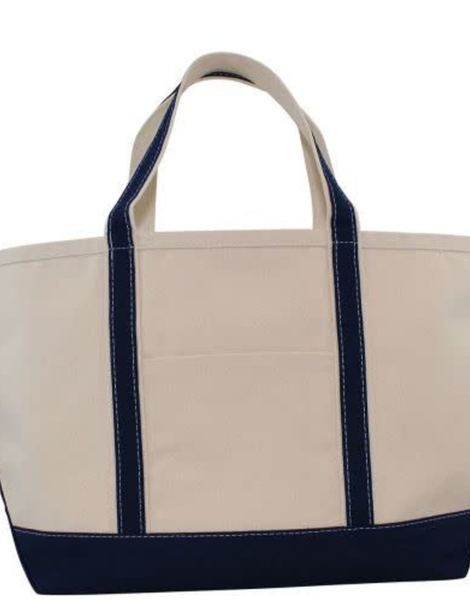 Large Canvas Boat Tote Navy