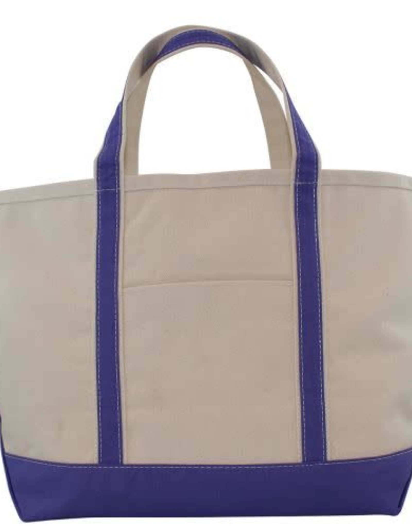 Large Canvas  Boat Tote Violet