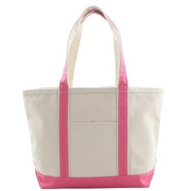 Medium Canvas Tote Hot Pink