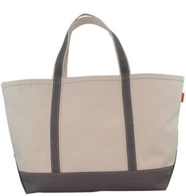Large Canvas Boat Tote Grey
