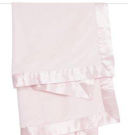 Little Giraffe Velvet Satin Blanket Pink
