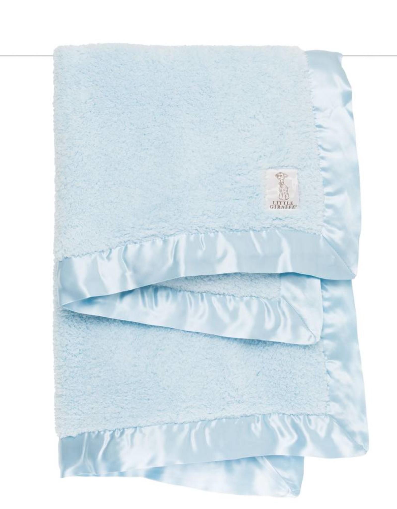 Little Giraffe Chenille Blanket Blue