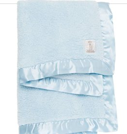 Little Giraffe Chenille Blanket Blue