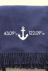 A Soft Idea Cotton Throw Navy