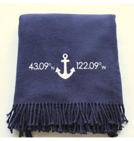 A Soft Idea Cotton Throw Navy