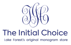 The Initial Choice is a full-service monogram and gift shop, located in Lake Forest, IL. We offer a wide variety of gifts for loved ones or for yourself! Make it extra special by adding a custom monogram.