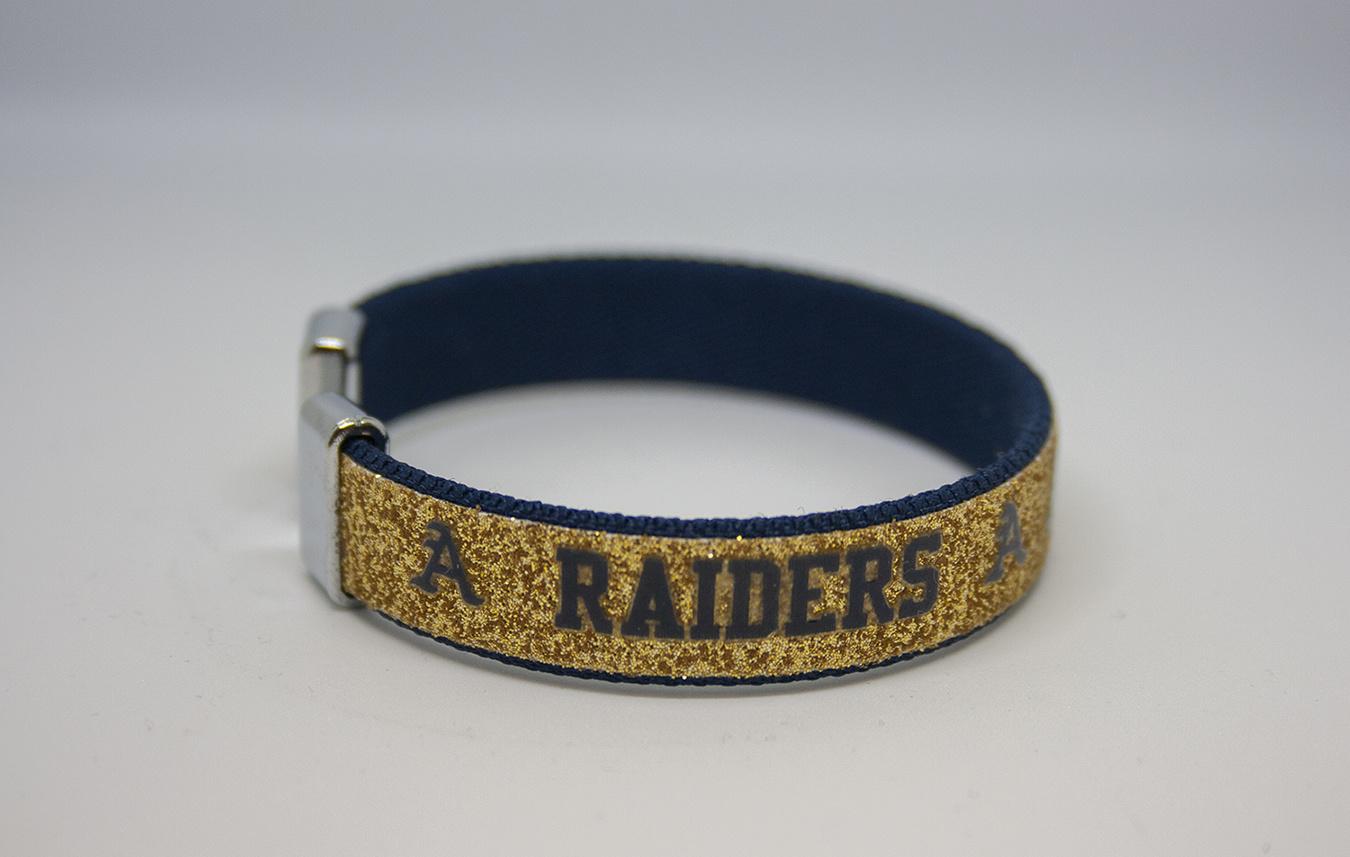"""Catchy Grafixs """"A"""" Bracelets with Silver Links"""