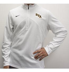 Nike Men's White Nike 1/4 Zip Jacket